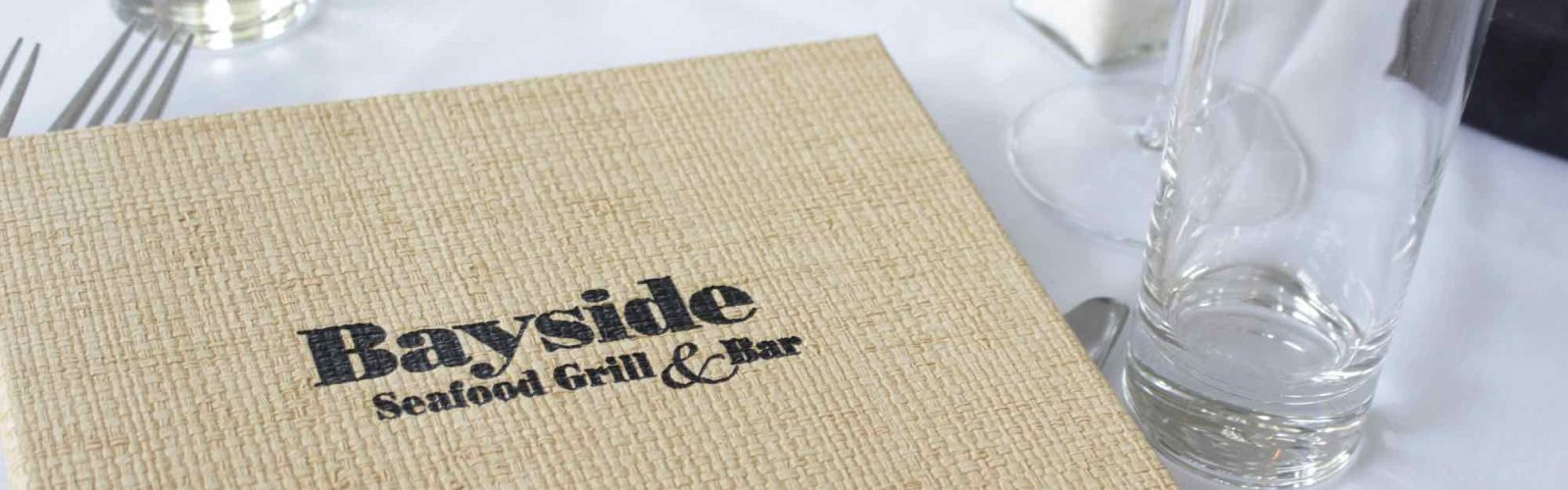 Bayside Grill dinner menu on table